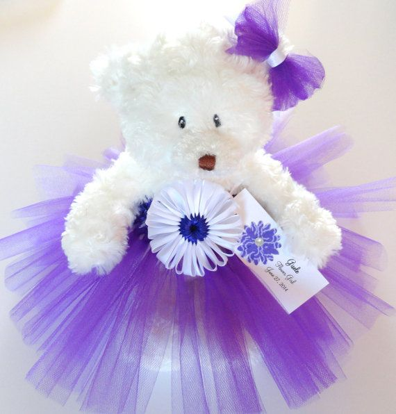 14 best 1026 teddy bears and pearls baby shower images on flower girl gift personalized flower girl princess tutu teddy bear in custom colors junior bridesmaid gift wedding keepsake bear negle Images