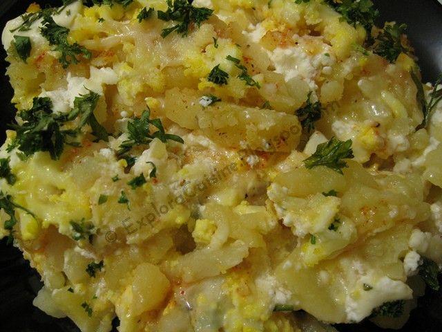 Cartofi frantuzesti (Cartofi gratinati)
