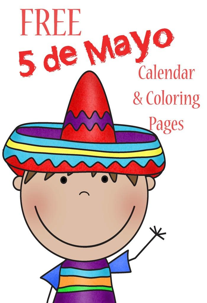 FREE Cinco De Mayo Calendar and Coloring Pages