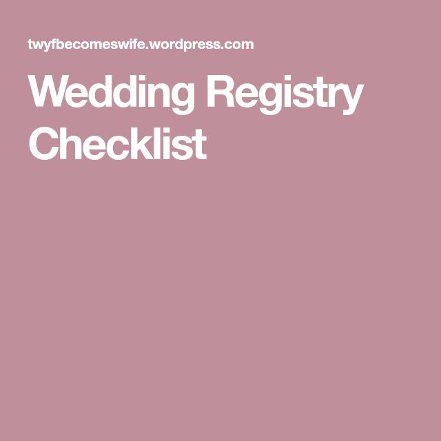 Best  Wedding Registry Checklist Ideas On   Wedding