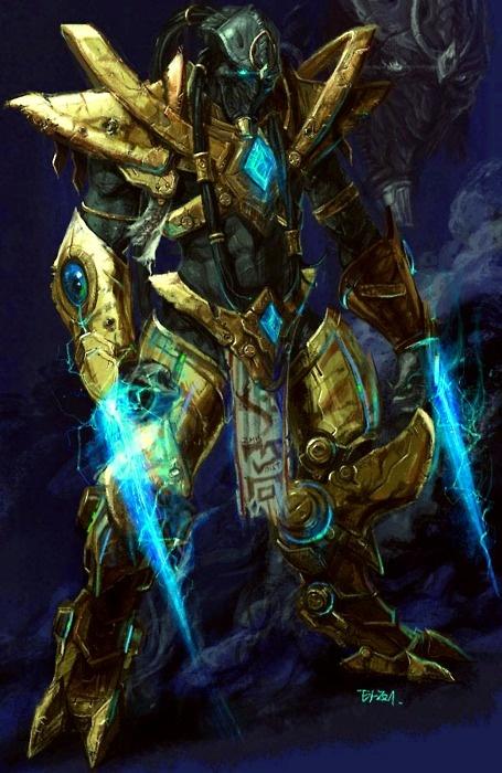 Zealot Starcraft artist:YI YOON-GI (Zealots are so nice)