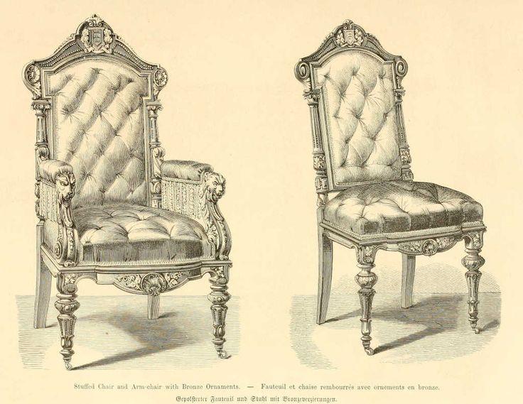 img/dessins meubles mobilier/fauteuil et chaise rembourres ornements bronze.jpg