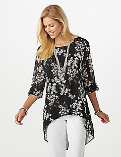 1d199e3e07b Floral High-Low Tunic Blouse | Fashion Store's ... Cato and Dress ...