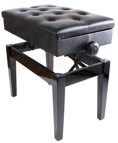Adjustable Piano Benches with Storage Black Ebony Leather Wood Keyboard Seats. Ace Division Inc  sc 1 st  Pinterest & 3144 best Piano bench images on Pinterest | Piano bench Benches ... islam-shia.org