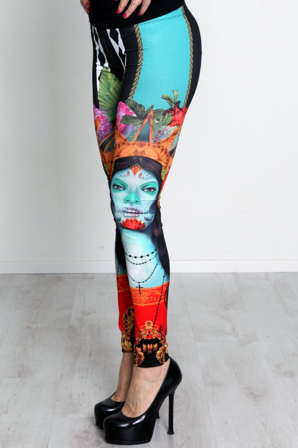 #ALFAOMEGABRAND #Leggings #print #messican #flower #fashion #look #SS14