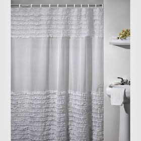 Whimsy Girl: Pretty Things {Ruffle Shower Curtains} Bath, Shower, Shower  Curtains