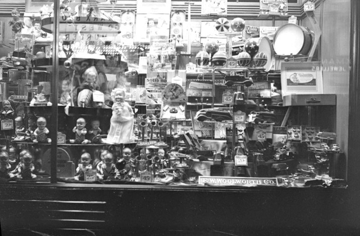 F W Woolworth store window, Ste-Catherine Street, Montreal...1941
