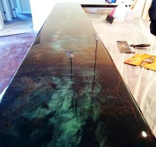 Bar tops diy countertops and epoxy on pinterest for Diy wood bar top
