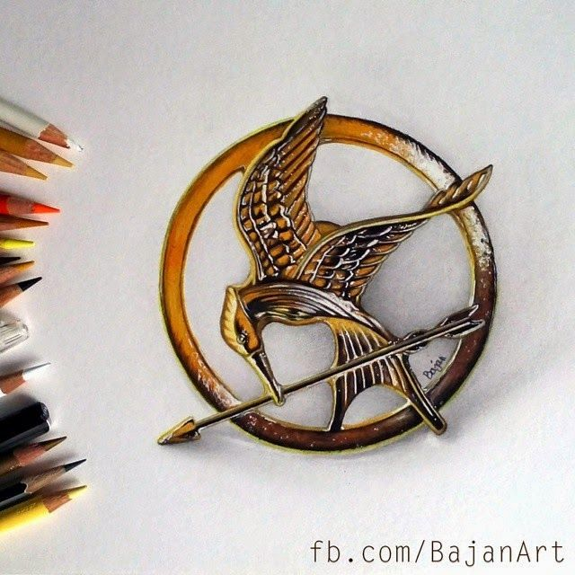 The Hunger Games by Silver2012 on DeviantArt |Hunger Games Mockingjay Pin Outline