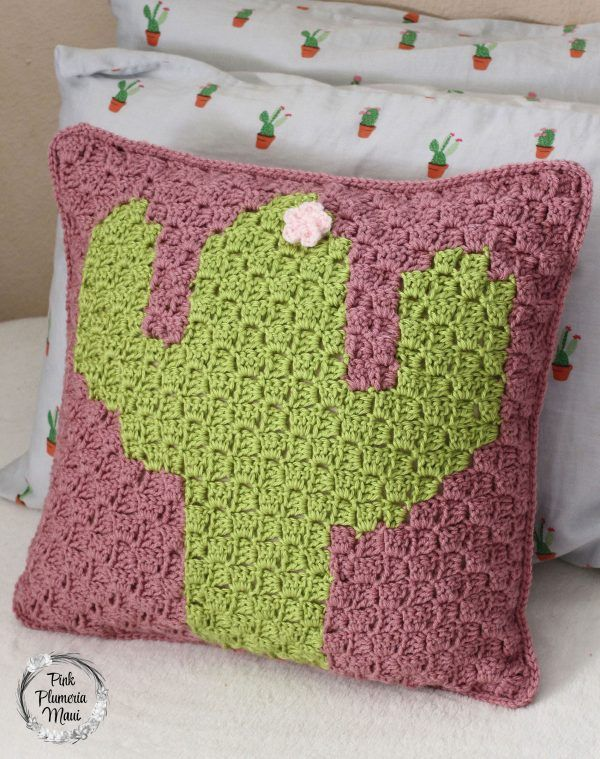 How To Make A Crocheted C2c Cactus Pillow Kussens En Knuffels