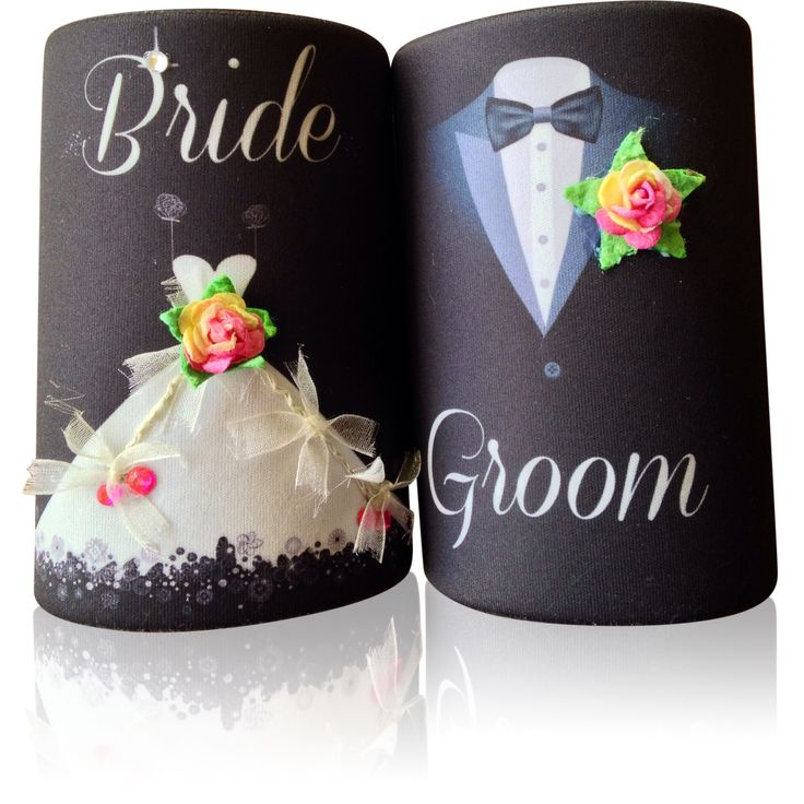 Bride and Groom Stubby Holder