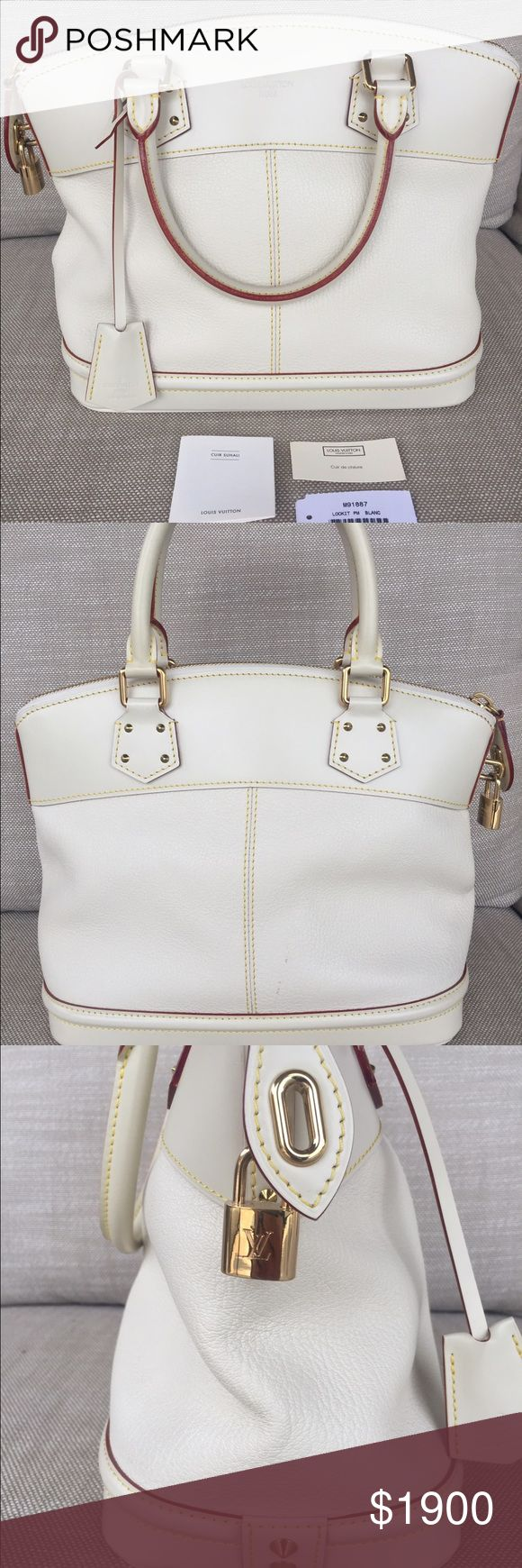 Louis Vuitton Suhali Lockit PM blanc In pristine condition. Hardly used. Guaranteed authentic, purchased from the 5th Avenue Maison in NYC. Any questions I will gladly answer. Louis Vuitton Bags Totes