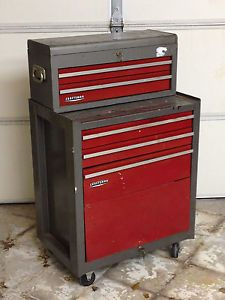 Vtg Craftsman Heavy Duty Tools Rolling Tool Chest 5
