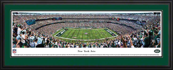 New York Jets Panoramic Picture - MetLife Stadium Panorama - Deluxe Frame $199.95
