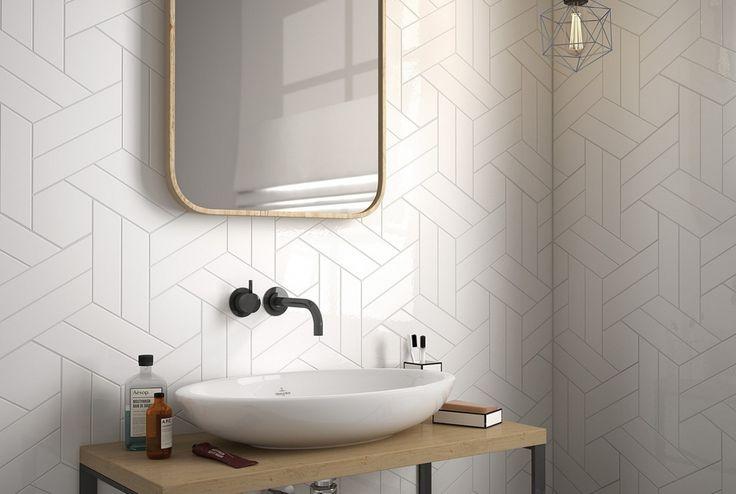 Equipe-chevron-wall-5, Cuisine, Salle de bain, Unicolore, Céramique, revêtement mural, Surface brillante, Surface mate, bord non rectifié