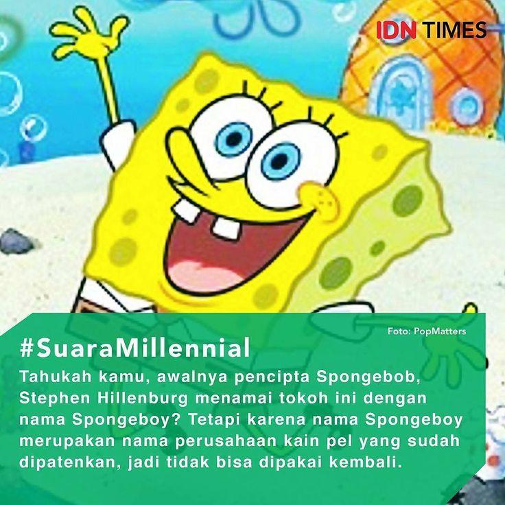 Tokoh #SpongebobSquarepants  yang selalu hadir setiap harinya pada saat kita masih sekolah, bahkan sampai sekarang kita masih ada TV yang menayangkan kartun Spongebob sehingga saat ini #Spongebob menjadi idola berbagai kalangan mulai dari anak-anak, remaja hingga dewasa. Ternyata sahabat #PatrickStar ini memliki fakta yang belum diketahui oleh banyak orang, lho! ----- 1. Awalnya pencipta Spongebob Stephen Hillenburg menamai tokoh #kartun ini dengan nama Spongeboy? Tetapi karena nama…