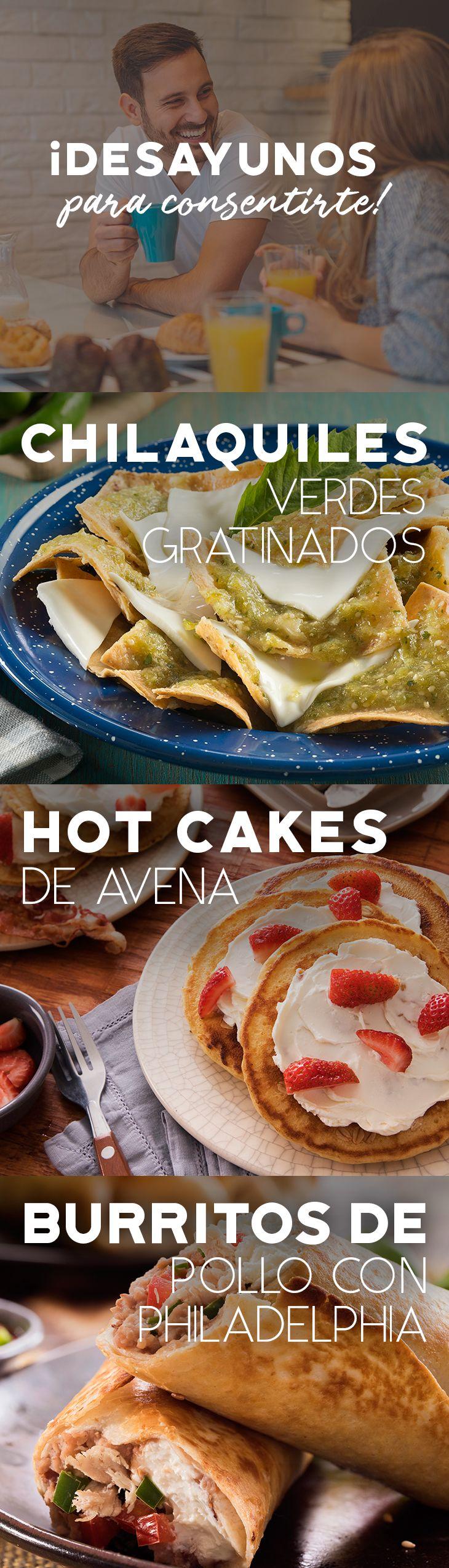 Disfruta de un delicioso desayuno con estas ideas para ti.   #recetas #receta #quesophiladelphia #philadelphia #crema #quesocrema #queso #comida #cocinar #cocinamexicana #recetasfáciles #recetasPhiladelphia #recetasdecocina #comer #desayuno #chilaquiles #hotcakes #burrito #pollo #salsa #picante #avena #desayunar #recetadesayuno #recetahotcakes #recetachilaquiles