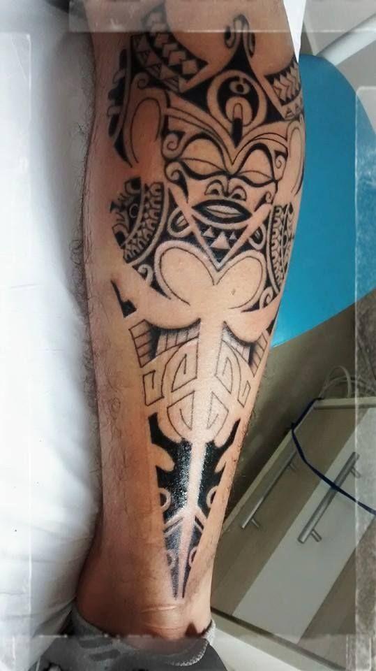 Maori tattoo leg                                                       …