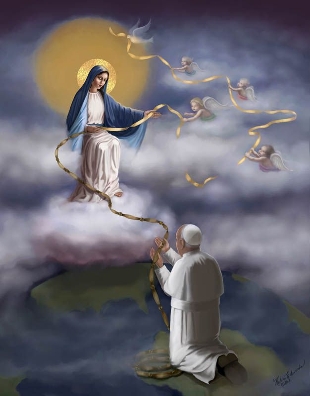"""Our Lady Undoer of Knots"" by Nellie Edwards  ""Papa Francis loves Our Mother, Our Lady Undoer of Knots."" via Glenna Bradshaw"