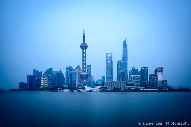 Surreal, fantastic image of The Bund in Shanghai, by Daniel Leu.