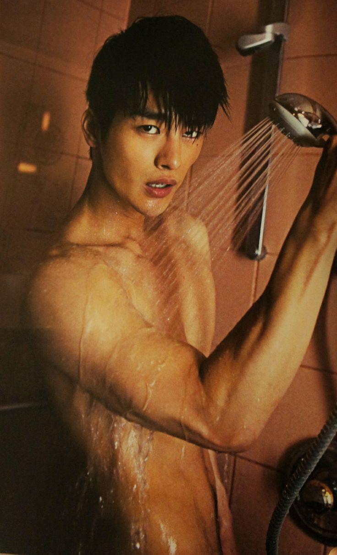 Hot asian in shower