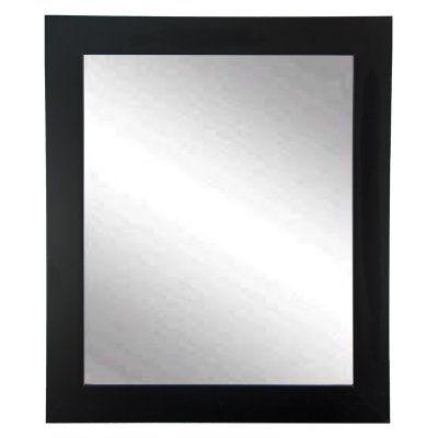BrandtWorks Designers Choice Classic Wall Mirror - Matte Black - BM002L2