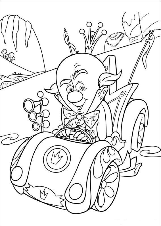 12 best COLORING SHEETS (WRECK-IT-RALPH) images on Pinterest - best of easy coloring pages for christmas