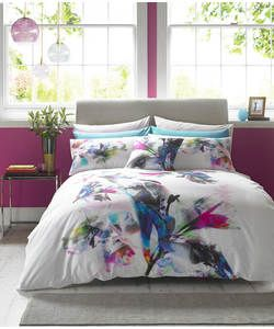 Lipsy Watercolour Lily Bedding Set - Double.: This bold watercolour bed set will make a real floral statement. With a… #argos #ireland