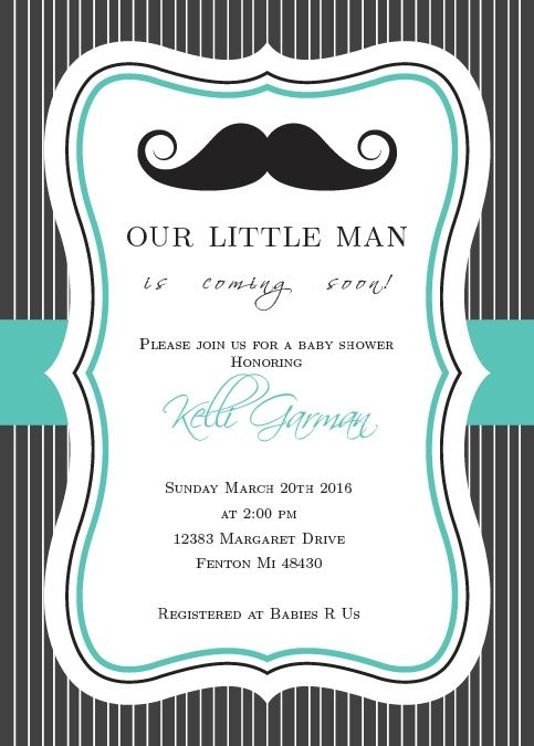 little man baby shower invitation babies showers and shower