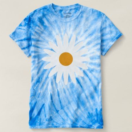 Ditsy Daisy Blue Tie Dye T Shirt - tap, personalize, buy right now!