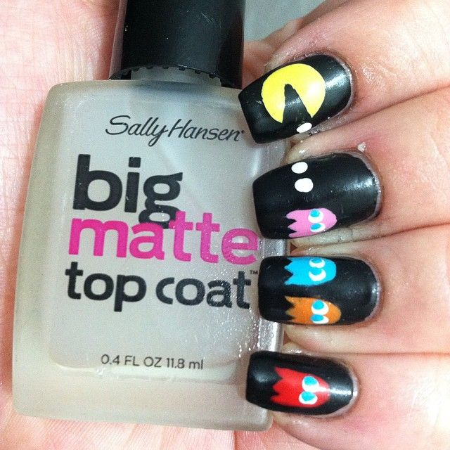 1000+ Ideas About Pac Man Nails On Pinterest