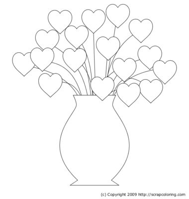 coloring pages vases of flowers | ... bouquet flowers in pot lotus flowers henri rousseau retro flower