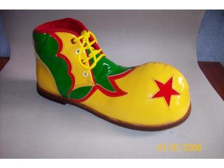 Zapatos de payaso con foamy - Imagui