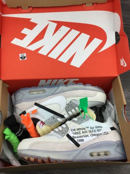 762905fdb8 Off-White Nike Air Max90 X White ICE Blue Mens shoes,buy discount $92  WhatsApp:8613328373859   Cheap Nike Air Max 90 Shoes in 2019   White nikes,  ...