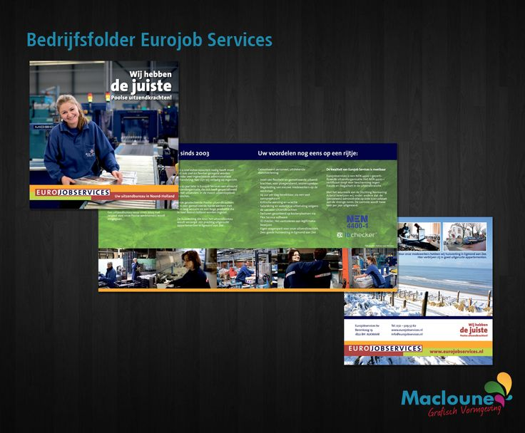 Drukwerk | Bedrijfsbrochure | Eurojob Services