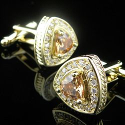 Men cufflinks 'Live The Good Life - All about Luxury Lifestyle