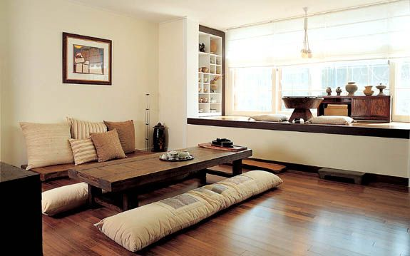 Modern Hanok, Korean traditional house, living area