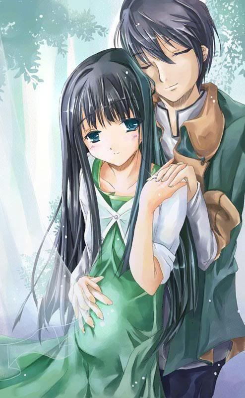 Pregnant anime girl couple rather good