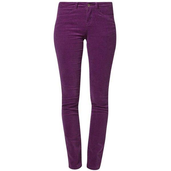Vero Moda KASABIAN GAMBLER Trousers ($39) ❤ liked on Polyvore featuring pants, jeans, purple, women's trousers, purple pants, cotton trousers, cotton pants and vero moda