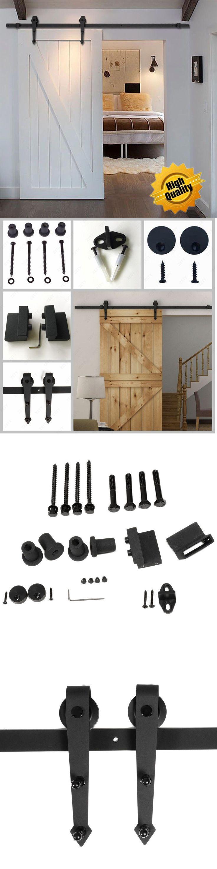 Other Door Hardware 20593: 10Ft Heavy Duty Modern Barn Wood Sliding Door Hardware Track Closet Set Black Bp -> BUY IT NOW ONLY: $66.43 on eBay!