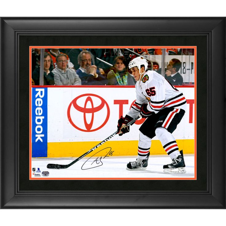 """Fanatics Authentic Andrew Shaw Chicago Blackhawks Framed Autographed 16"""" x 20"""" NHL Debut Photograph"""
