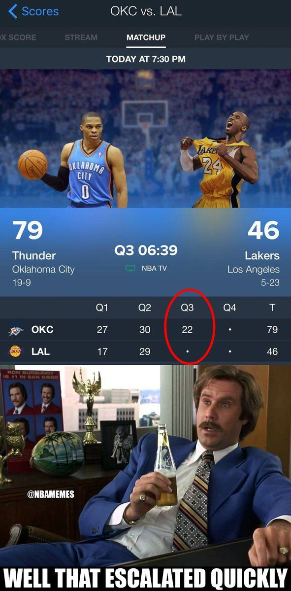 RT @NBAMemes: Donner bei einem 40-4-Lauf gegen die Lakers. – nbafunnymeme.com / …   – funny