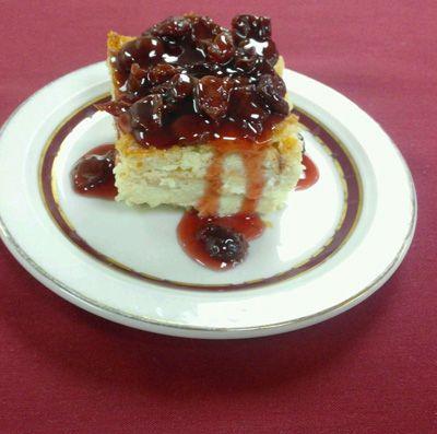 White Chocolate Pudding with Tart Cherry Sauce | George Washington's ...