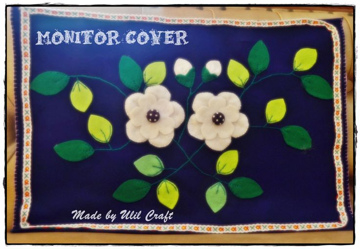 Felt monitor cover