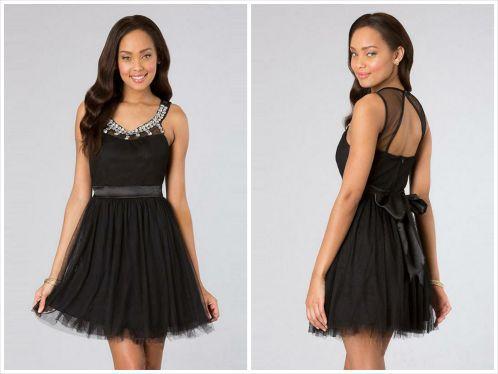 little black dress - chiffon