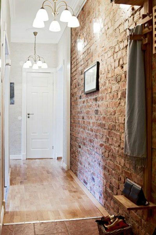 Backstein Tapete - schicke rustikale Akzente in der modernen Wohnung