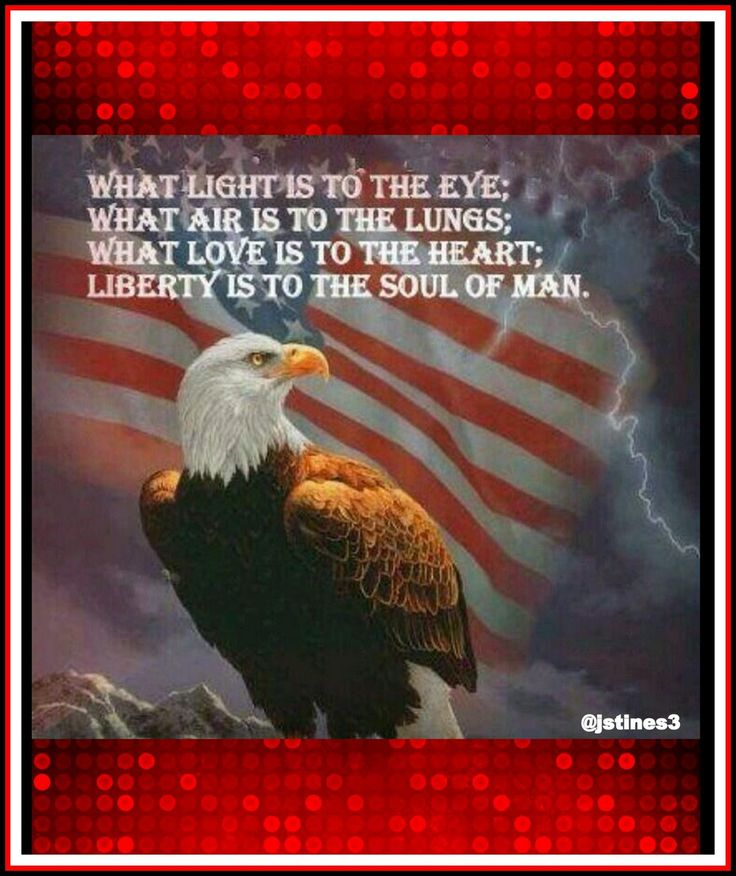 What light is to the eye;.. What air is to the lungs;..What love is to the heart;.. Liberty is to the soul of man ♥