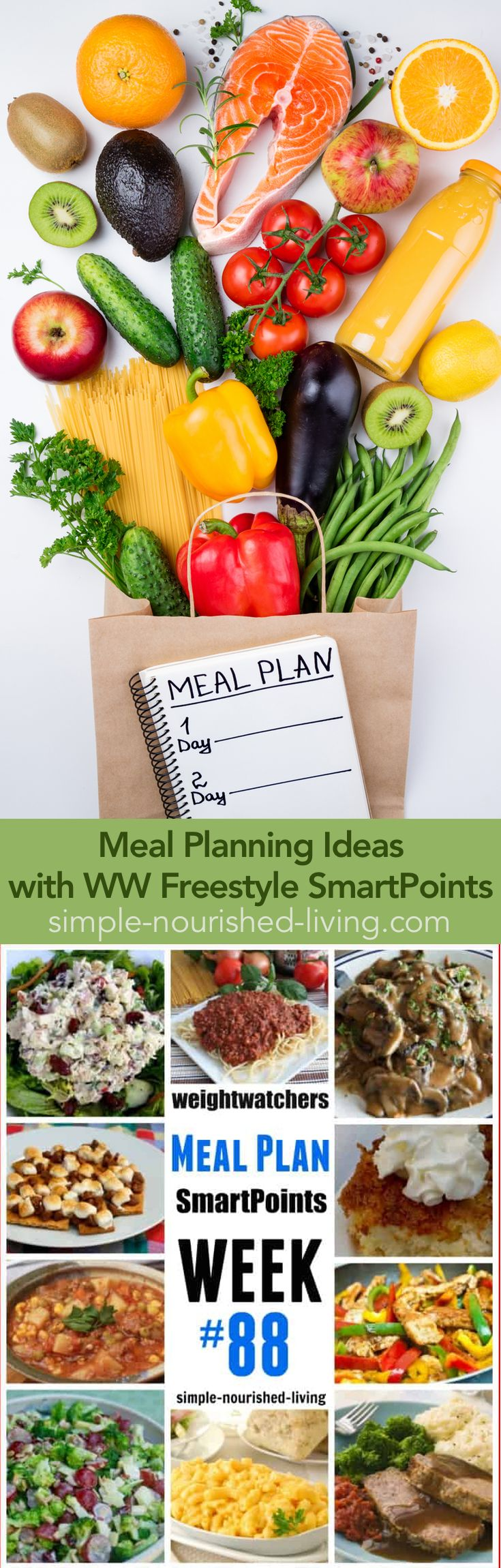 Weight Watchers Dinner Menu #88 – with WW Freestyle SmartPoints – Featuring Slender Kitchen's Meal Plans. The Key to Eating Well is Cooking... And The Key to Consistent Cooking is Planning!