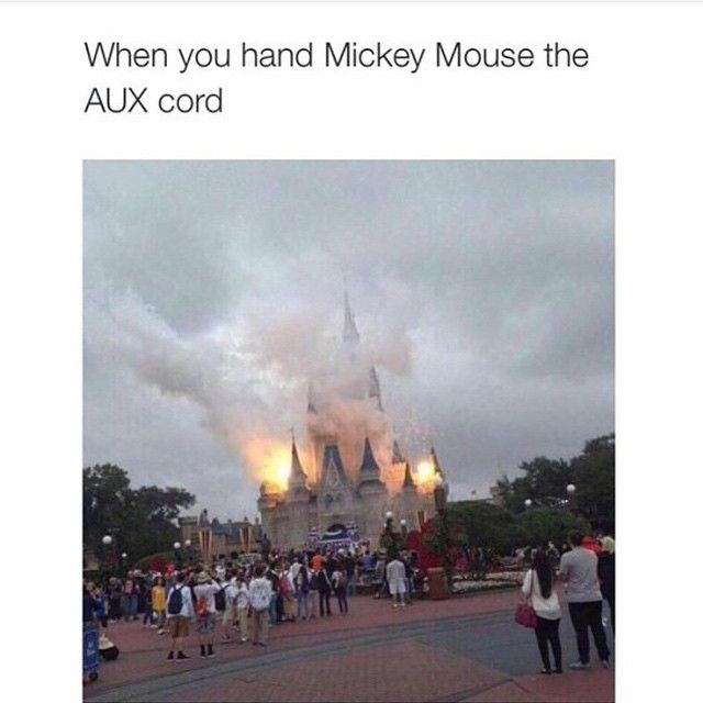 When Micky Mouse loses his chill... Disney gets the Aux Cord meme