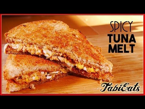 Spicy Tuna Melt (RECIPE)- Tuna + Egg Boiled chopped+ Mayo+ Pepper+ Chilli Sauce